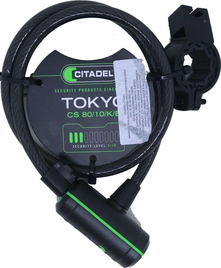 CADEADO ESPIRAL CITADEL CHAVE TOKYO CS 80/10/K/B 10MMx80CM