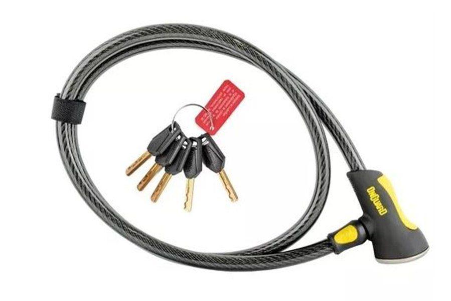 CADEADO ONGUARD AKITA 8039 CABO ESPIRAL COM CHAVE - ISP