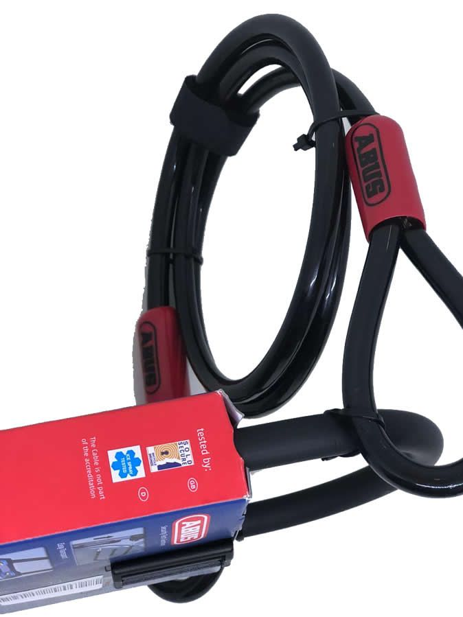 CADEADO TRAVA U-LOCK ABUS FACILO 32 + LOOP CABLE 140CM