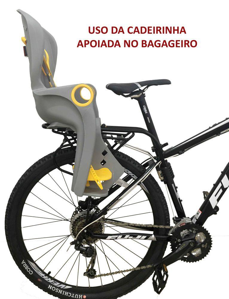 CADEIRINHA TRASEIRA EPIC BQ-5A PARA BAGAGEIRO CINZA ARO 26 A 29 ATE 25 KG