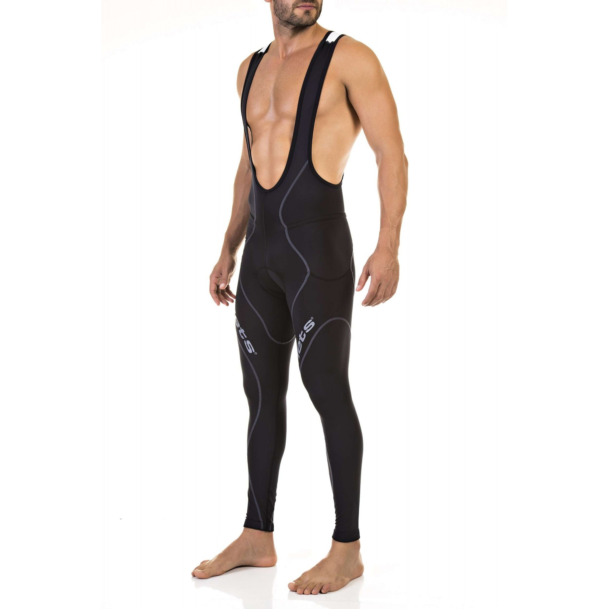 CALCA BRETELLE FLETS MASCULINO BASIC COMPRESSION PRETO