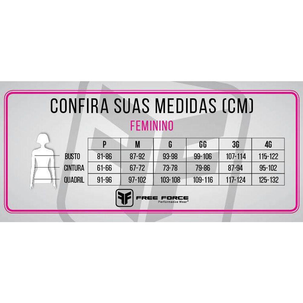 CALCA FREEFORCE FEMININA SPORT COMP PRETA CICLISMO