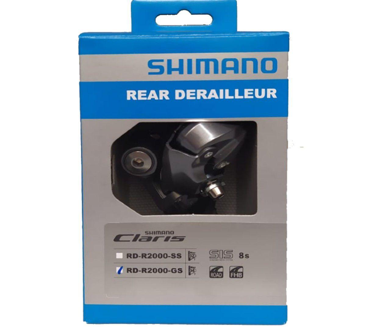 CAMBIO TRASEIRO SHIMANO CLARIS 8V RD-R2000 GS ATE 34 DENTES - BLC