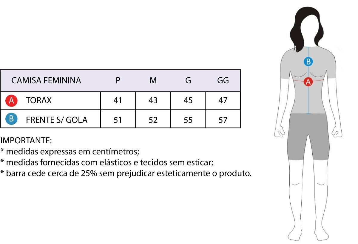 CAMISA ASW FEMININA ACTIVE FANCY PRETA 18
