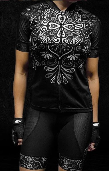 d34b43148c3ec ... CAMISA ASW FEMININA ACTIVE FANCY PRETA E BRANCA 18 - Bike Runners ...