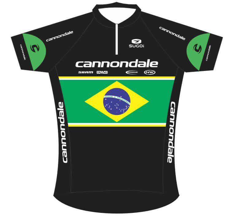 CAMISA BIKE TOUR CANNONDALE BRASIL PRETA