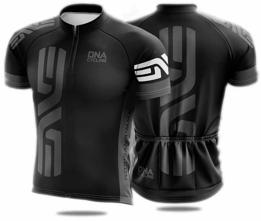 CAMISA BIKE TOUR DNA CYCLING PRETA E CINZA