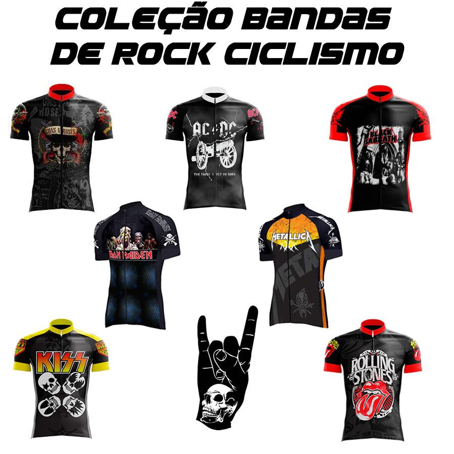 CAMISA BLACK SABBATH CICLISMO ROCK