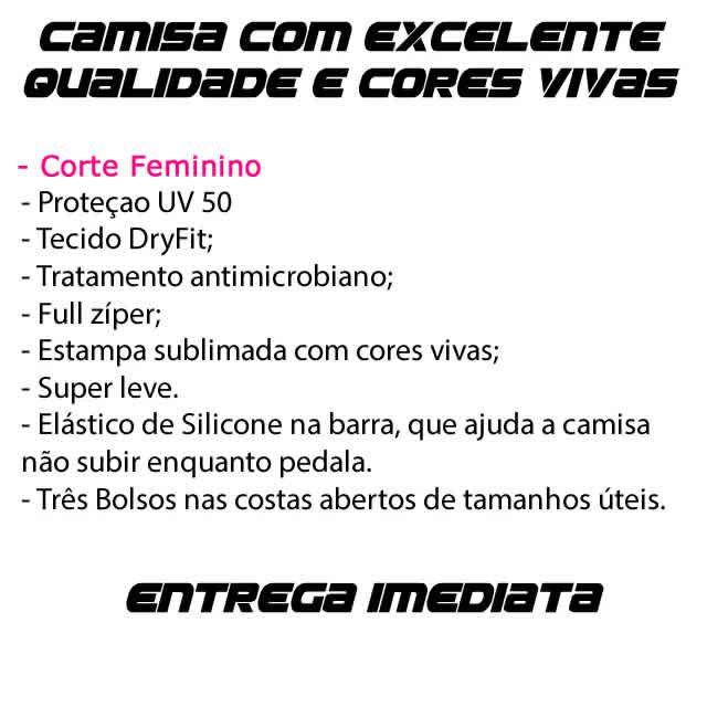 CAMISA FEMININA ACDC CICLISMO PRETA