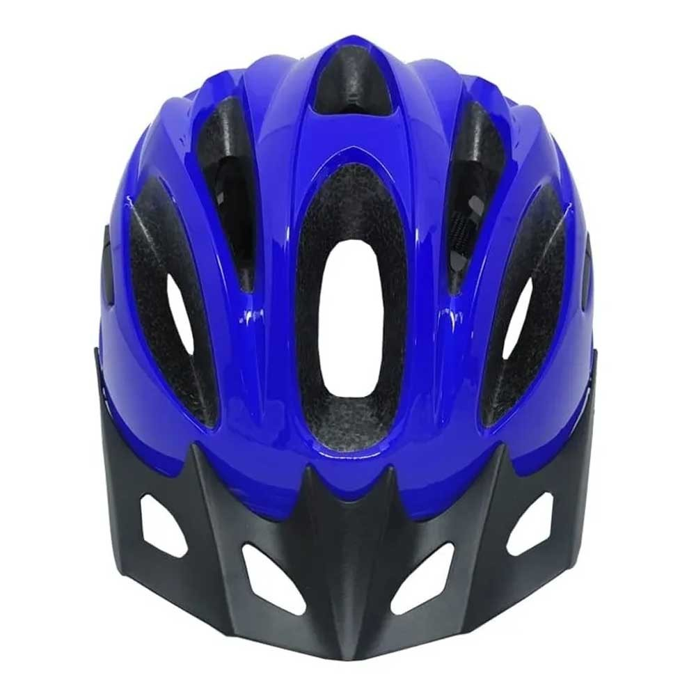 CAPACETE ABSOLUTE NERO NEW AZUL IN-MOLD COM LED - ISP