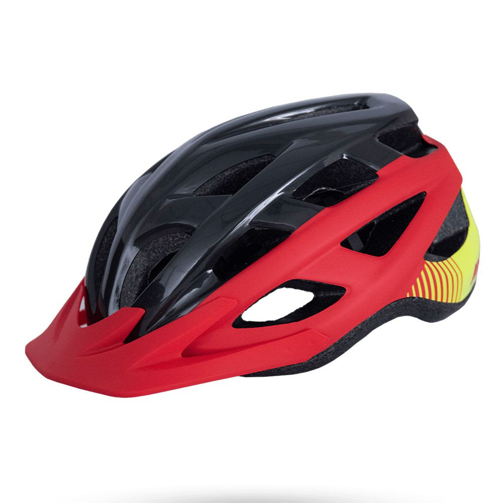 CAPACETE ASW BIKE FUN VERMELHO E PRETO COM LED TRASEIRO 20 - Bike Runners -  Loja de Bicicleta e Acessórios 🚴