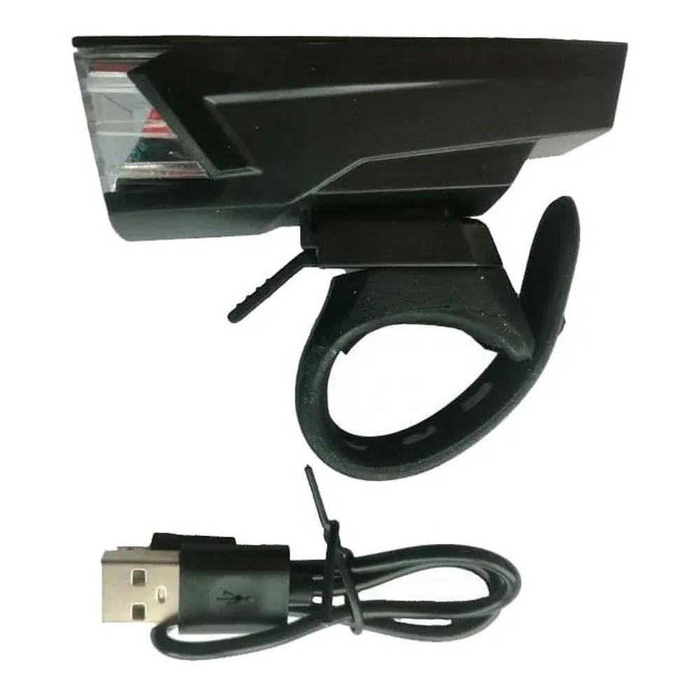 FAROL DIANTEIRO ABSOLUTE JY-7059 PRETO LED CARGA VIA USB - ISP