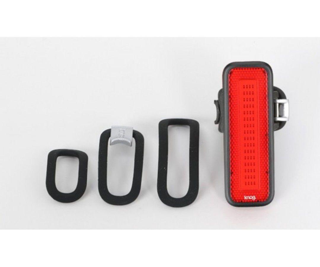 LANTERNA TRASEIRA KNOG BLINDER MOB V MR CHIPS PRETA CARGA VIA USB 44 LUMENS 53 HORAS