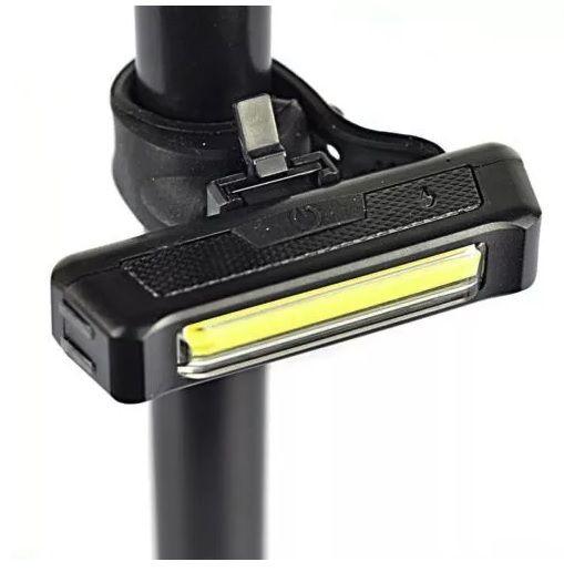 FAROL TRASEIRO OU DIANTEIRO LED CARREGAVEL VIA USB 100 LUMENS (ACENDE BRANCO OU VERMELHO) - COMET