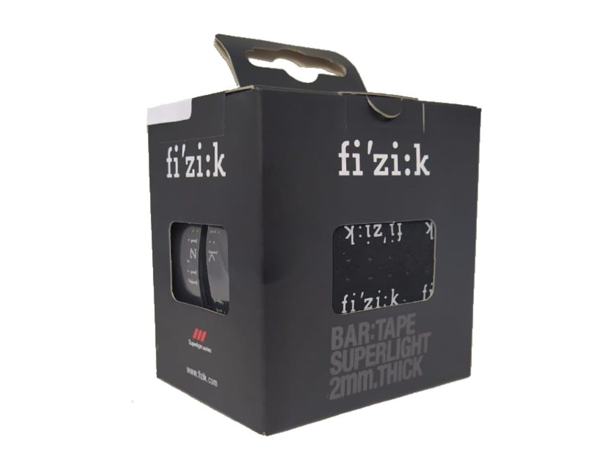 FITA DE GUIDAO FIZIK SUPERLIGHT SOFT TOUCH PRETA COM LOGO 2MM SPEED