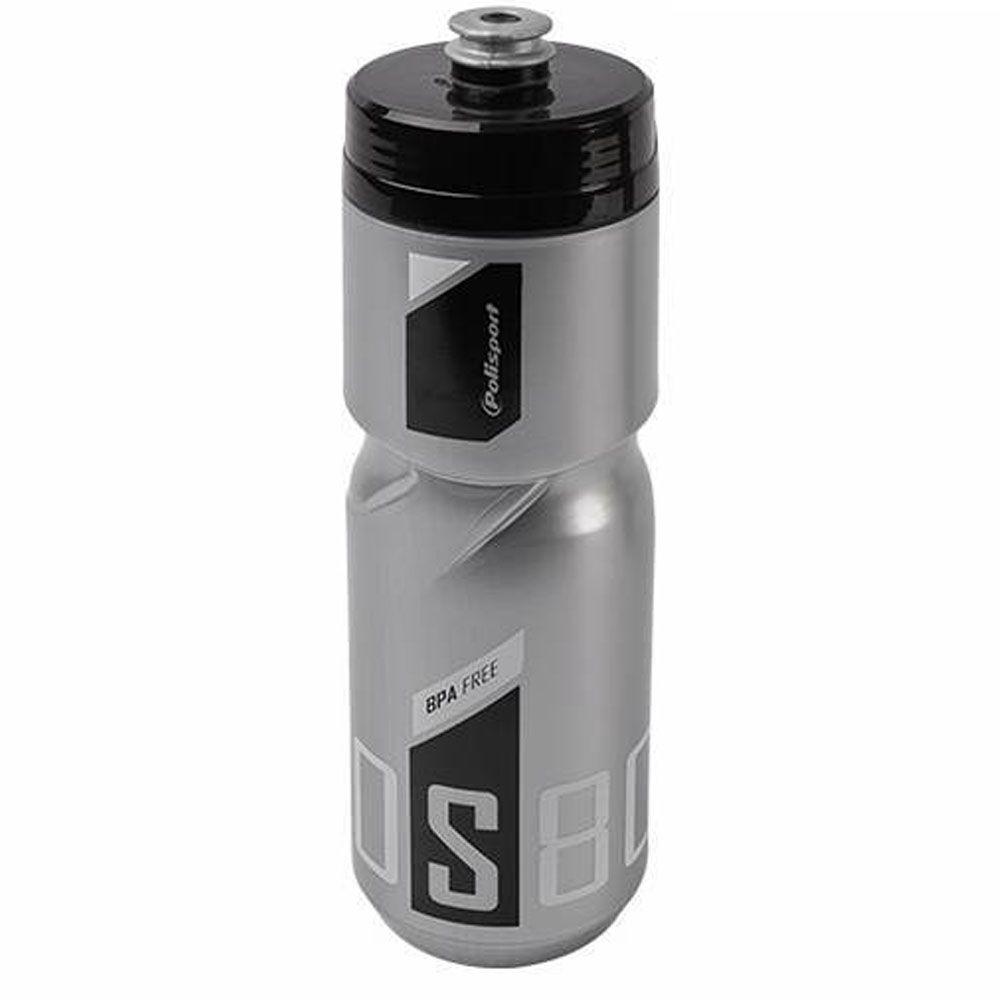 GARRAFA POLISPORT S800 FREE BPA PRATA E PRETA 800ML