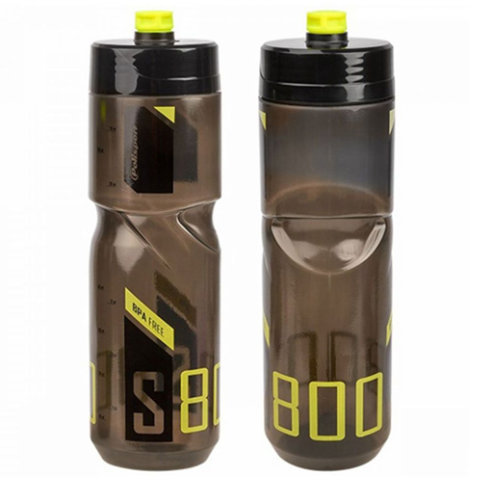 GARRAFA POLISPORT S800 FREE BPA PRETA E VERDE NEON 800ML