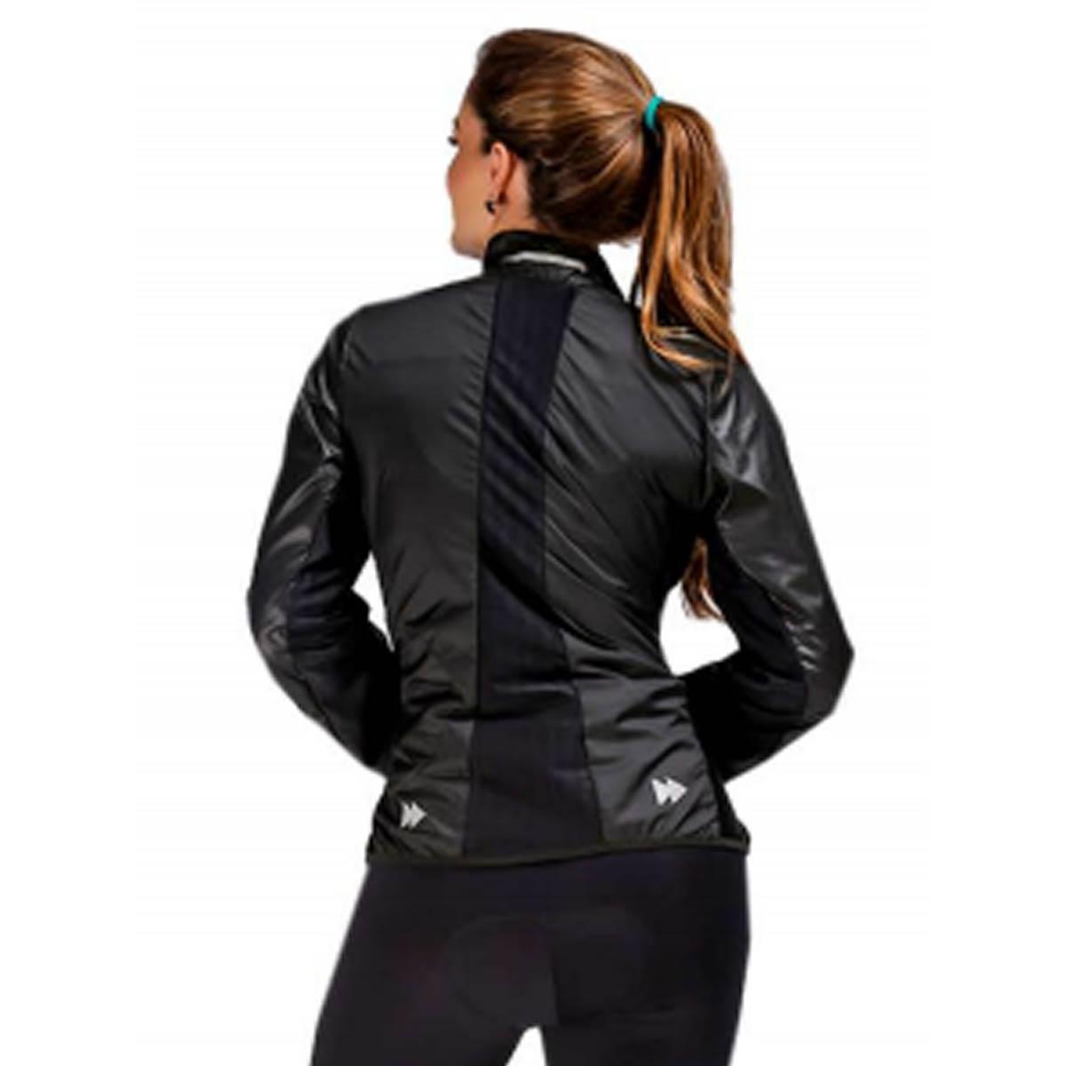 Jaqueta Corta Vento Lynce Feminina Black Titanium com Ziper Refletivo Preta Ciclismo