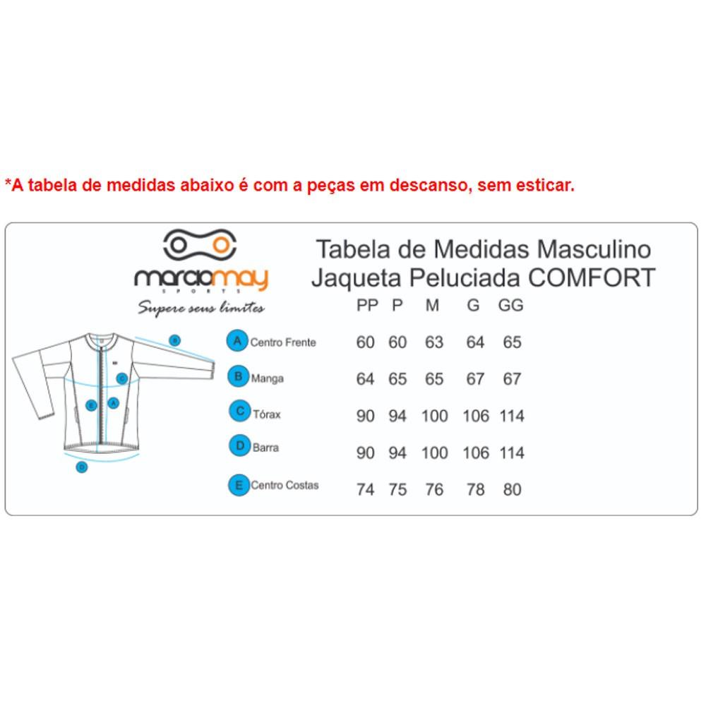 JAQUETA MARCIO MAY MASCULINA PELUCIADA COMFORT PRETA CICLISMO 20