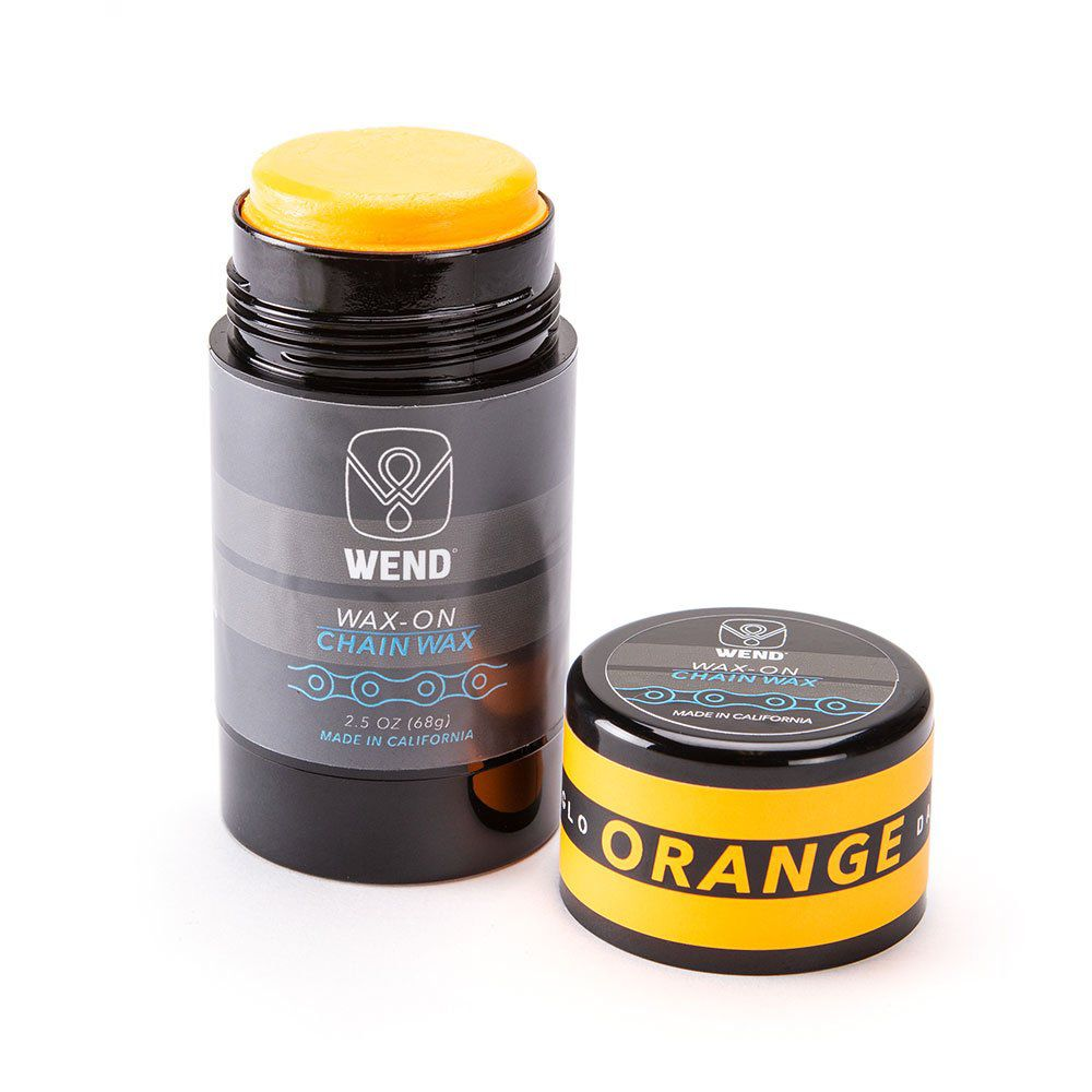 LUBRIFICANTE WAX-ON CERA DE PARAFINA PARA CORRENTE BICICLETA COLOR 80ML LARANJA NEON