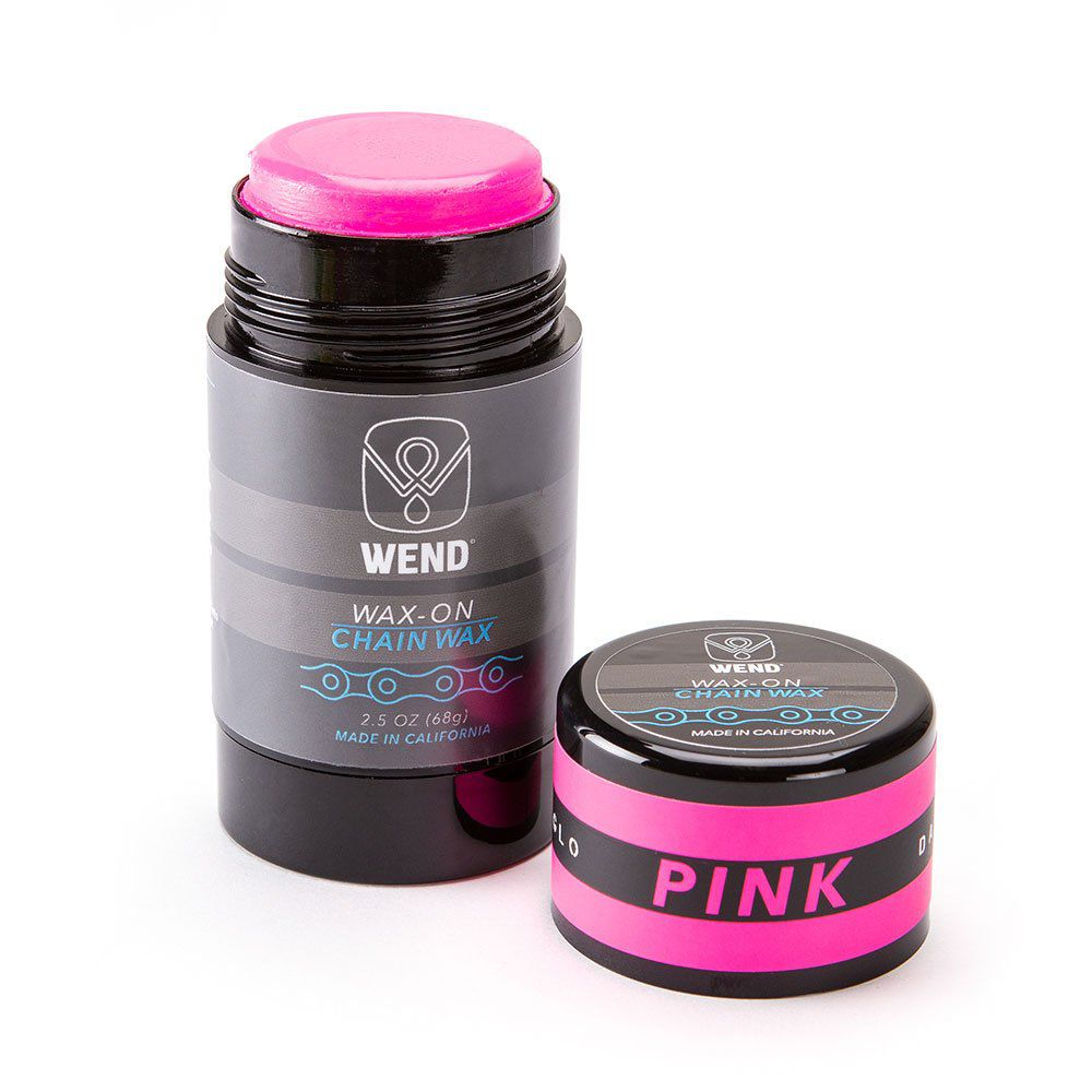 LUBRIFICANTE WAX-ON CERA DE PARAFINA PARA CORRENTE BICICLETA COLOR 80ML ROSA NEON