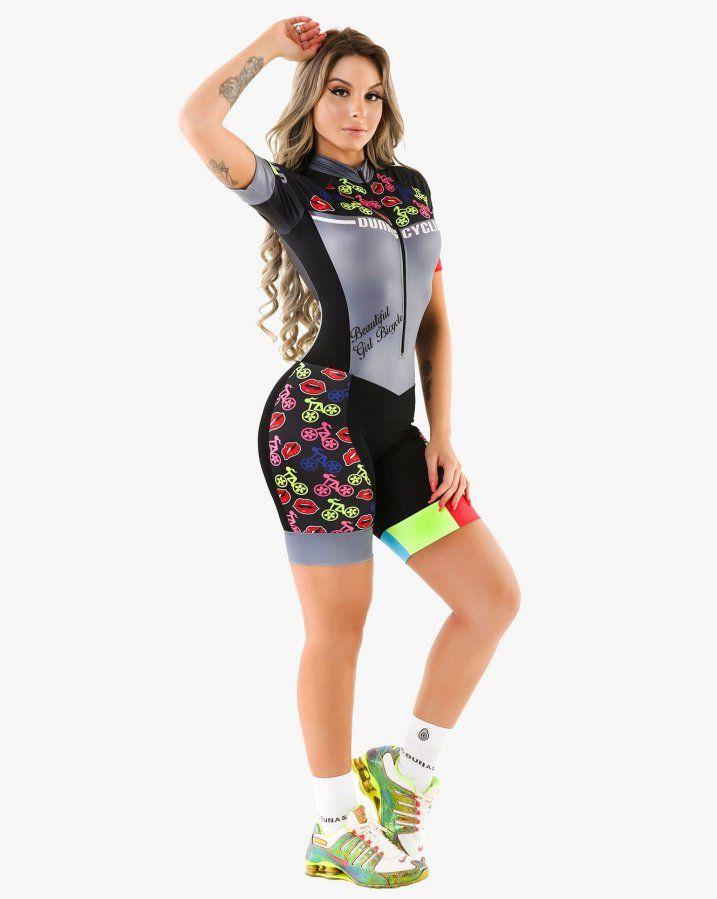 9aa83a76b MACAQUINHO DUNAS FEMININO GIRL BICYCLE PRETO E CINZA 19 - Bike Runners ...