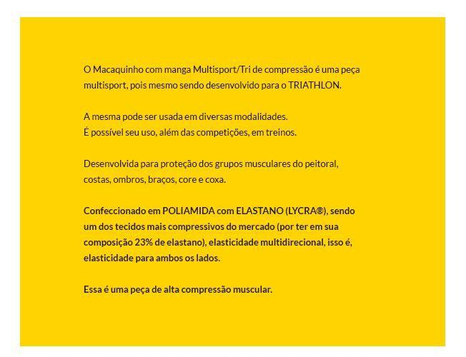 MACAQUINHO FLETS MASCULINO MULTISPORT TRIATHLON PRETO