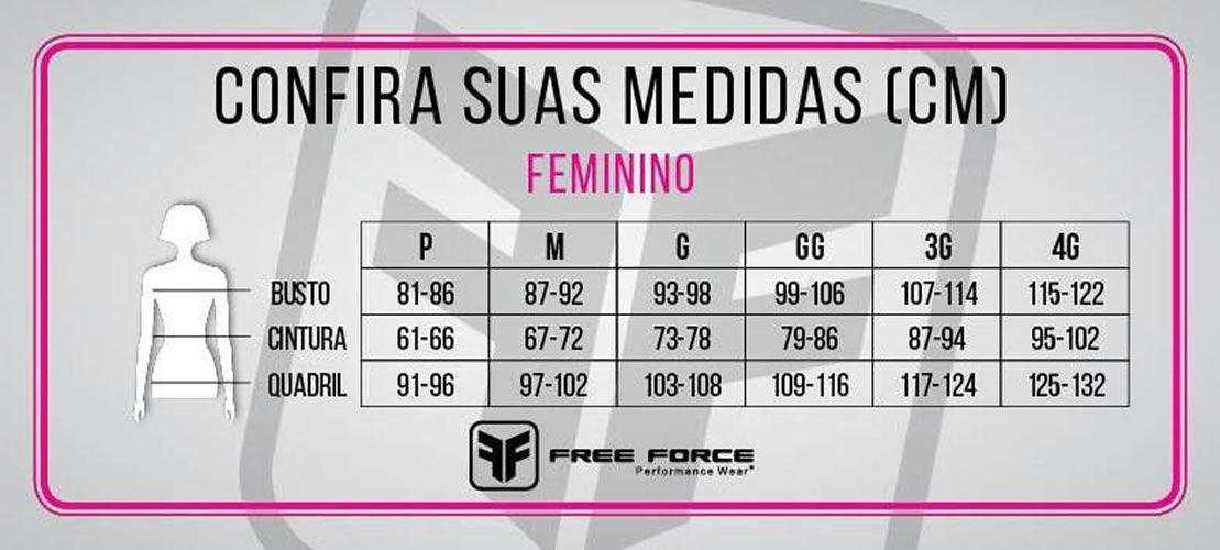 MACAQUINHO FREEFORCE FEMININO SPORT BRANCH PRETO ROSA E VERDE
