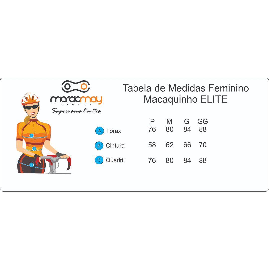 MACAQUINHO MARCIO MAY FEMININO ELITE PRETO E DOURADO CICLISMO 19