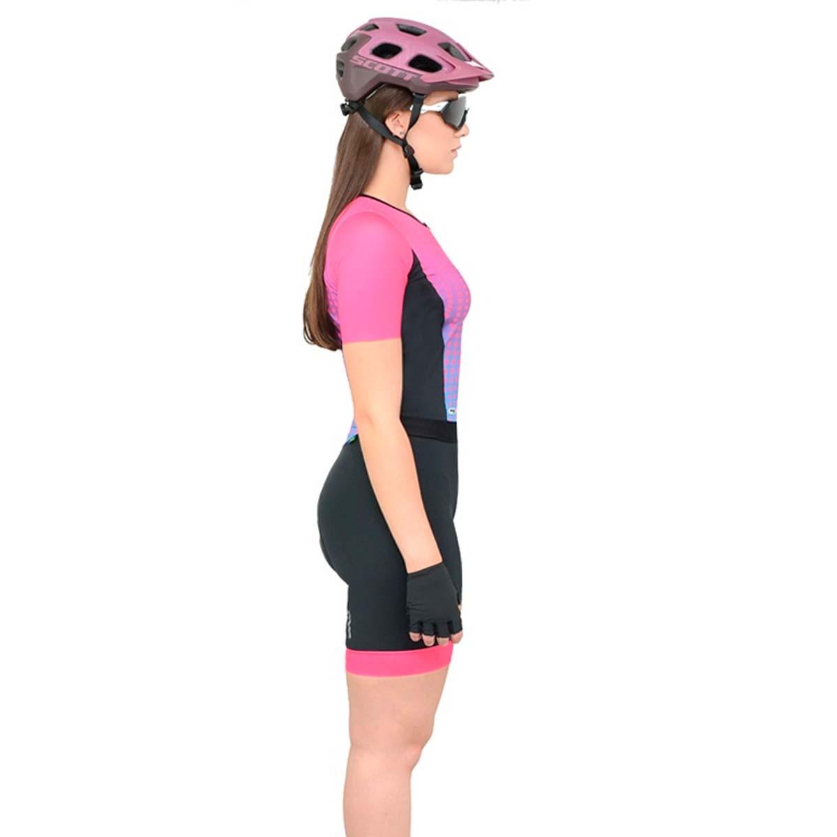 Macaquinho Mauro Ribeiro Feminino Spheric Rosa Ciclismo 21