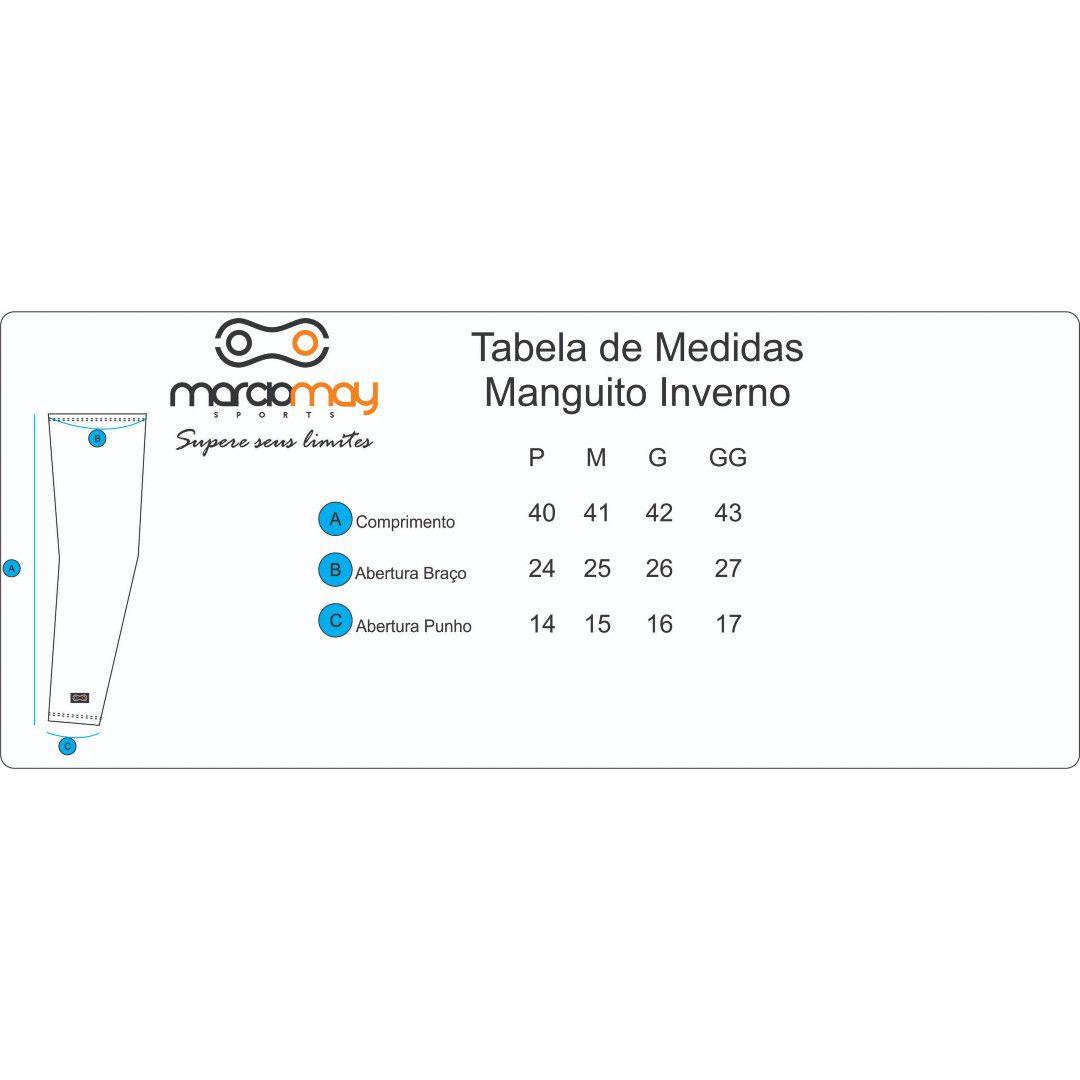 MANGUITO DE INVERNO MARCIO MAY PELUCIADO PRETO CICLISMO 19