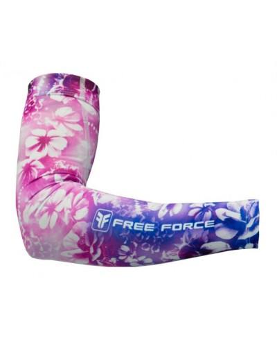MANGUITO FREEFORCE FEMININO FLOWERS ROSA ESCURO !