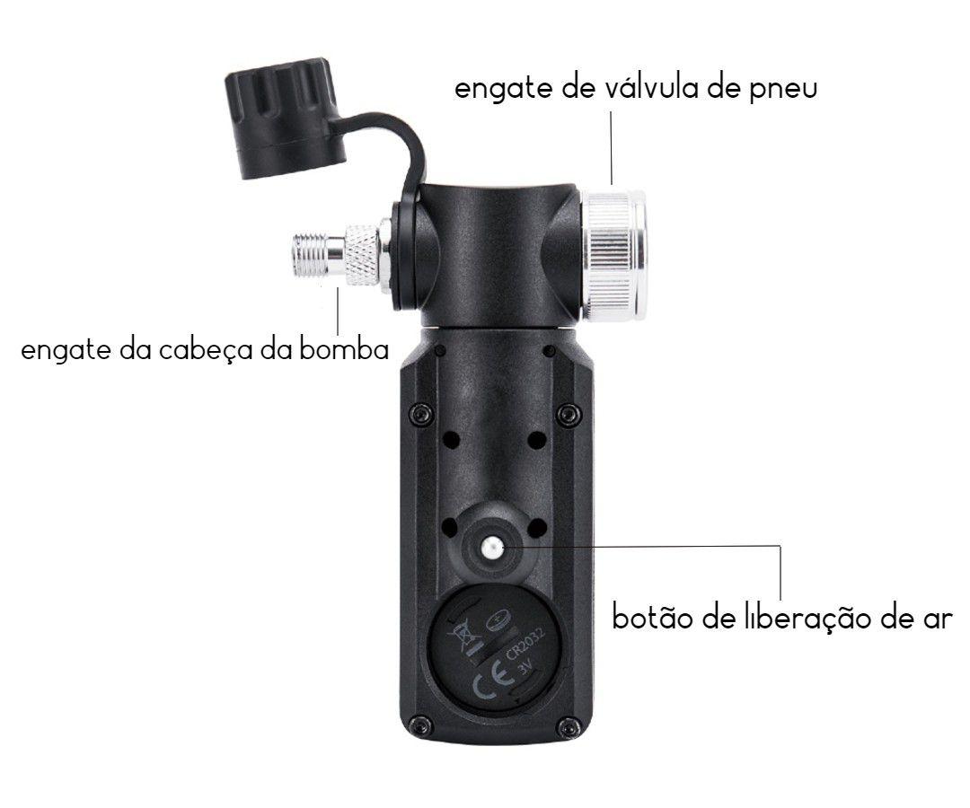 MEDIDOR DE PRESSAO TOPEAK DIGITAL UNIVERSAL COM ENTRADA PARA CALIBRADOR DE AR ATE 300 PSI