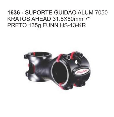 MESA 31.8X80MM FUNN 7o ALUMINIO 7050 KRATOS AHEAD PRETO 135g HS-13-KR