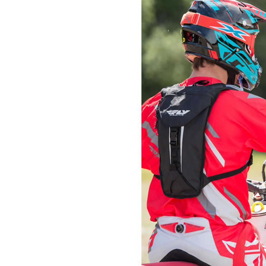 MOCHILA DE HIDRATACAO FLY 2 LITROS BIKE E MOTO PRETA