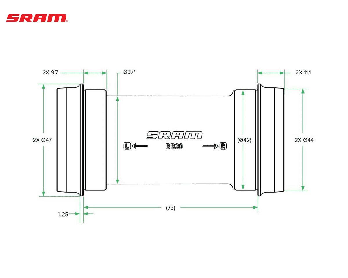 MOVIMENTO CENTRAL SRAM DUB BB30 73MM MTB