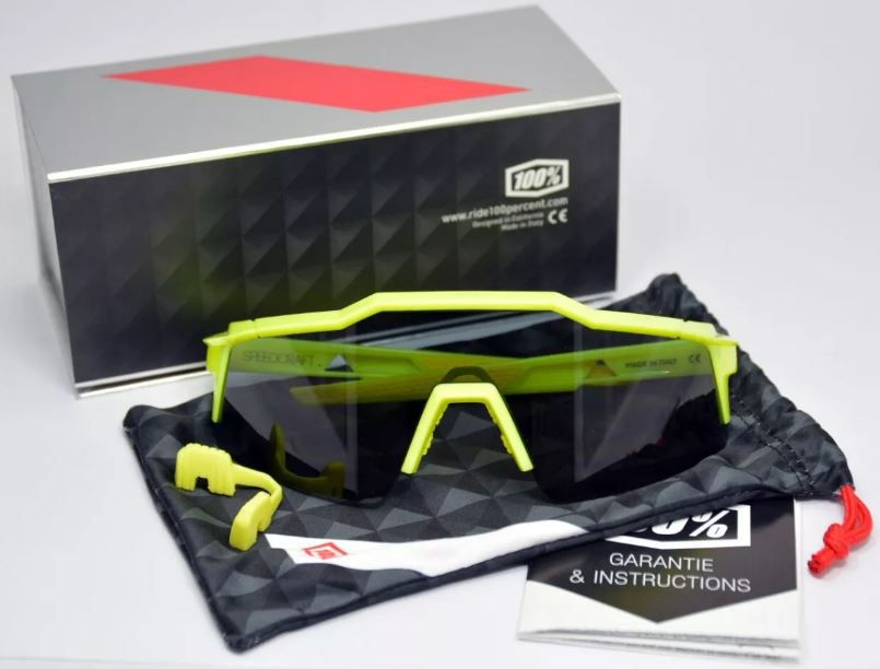 OCULOS PARA CICLISMO 100% SPEEDCRAFT BIKE SHORT AMARELO FLUOR - Bike  Runners ... 3d4ffe383c