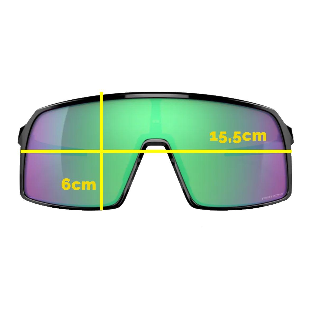 Oculos Para Ciclismo Oakley Sutro Preto com Lente Prizm Road Jade Espelhada Verde