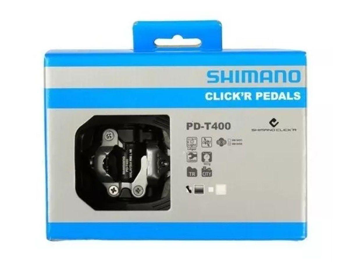 PEDAL CLIP ALUMINIO SHIMANO T400 CLICK R PRETO PN:EPDT400LR - BLC
