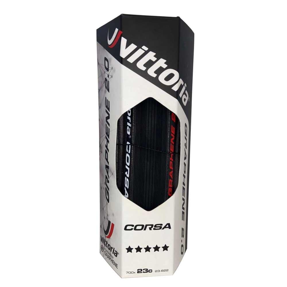 PNEU 700X23 VITTORIA CORSA GRAFENO 2.0 320 TPI PRETO DOBRAVEL KEVLER 11A00089