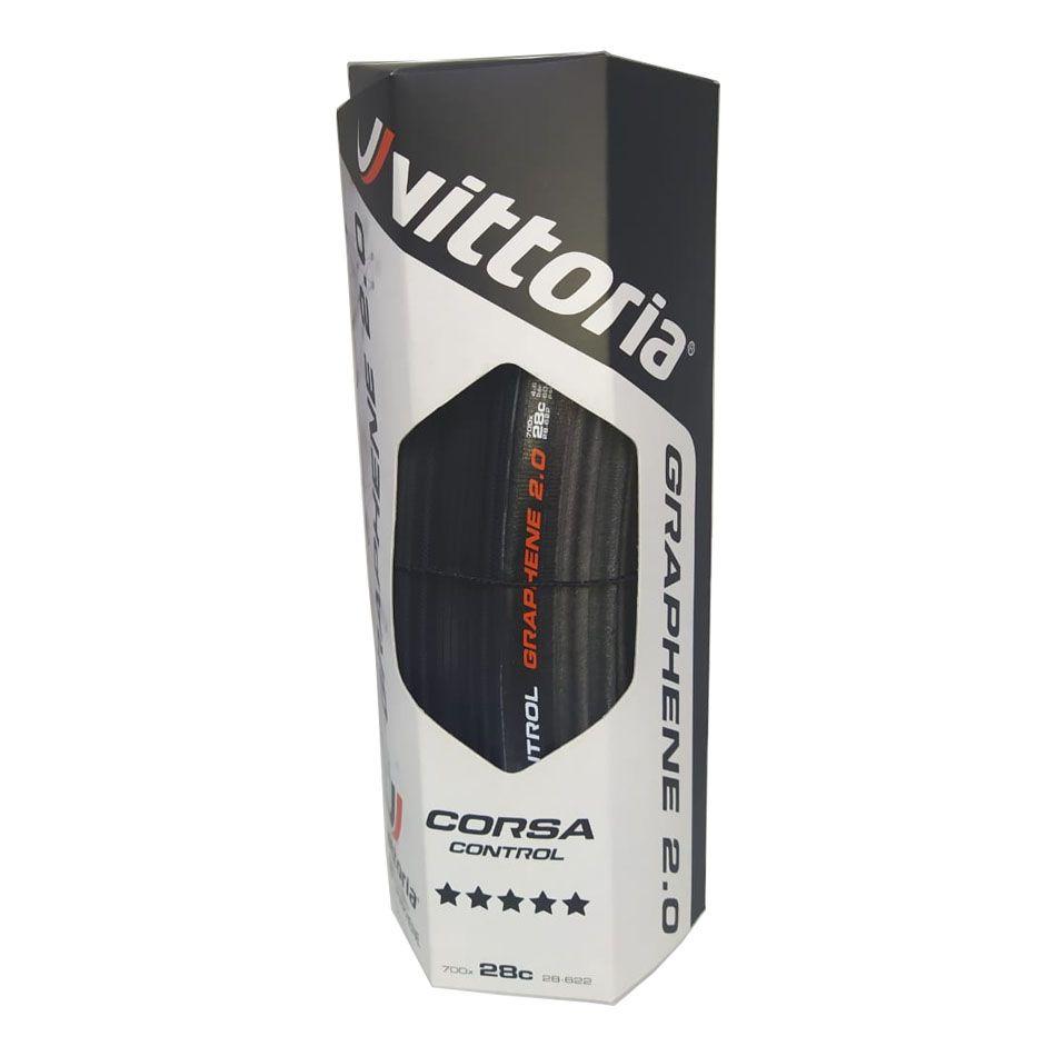 PNEU 700X28 VITTORIA CORSA CONTROL G2.0 PRETO/PRETO DOBRAVEL KEVLAR 11A00106
