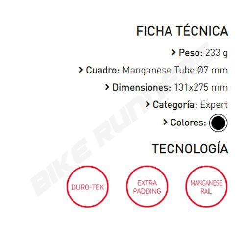 SELIM SELLE ITALIA SLR TM S1 TRILHO MANGANES PRETO 233G.