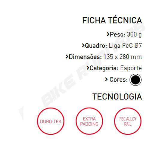 SELIM SELLE ITALIA X1 X-CROSS S1 TRILHO ACO PRETO 300G.