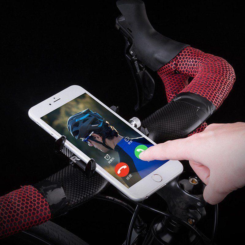 SUPORTE UNIVERSAL ROCKBROS ALUMINIO PRETO PARA CELULAR E GPS - BIKE E MOTO