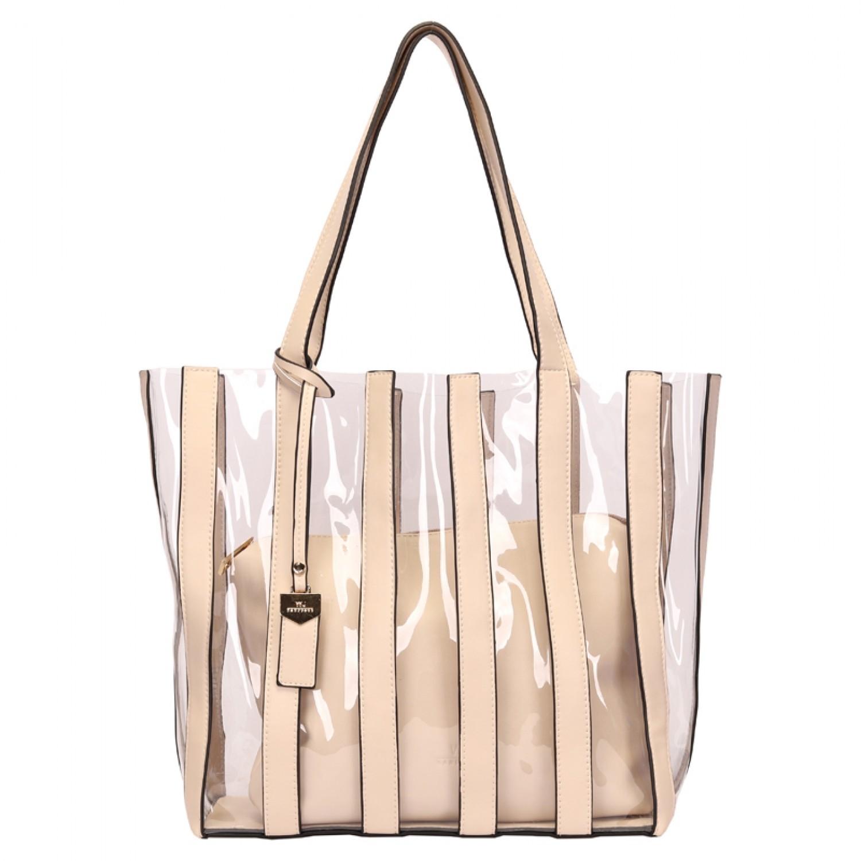 BOLSA SHOPPING BAG VINIL E NECESSAIRE OFF WHITE