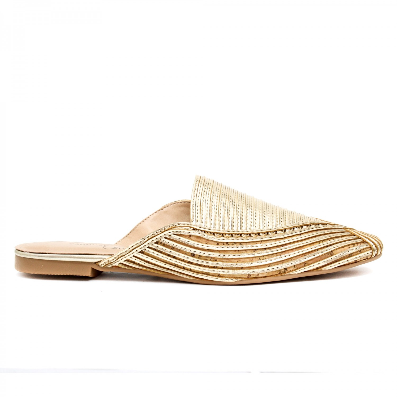 MULE METALIZADO FLAT OURO LIGHT