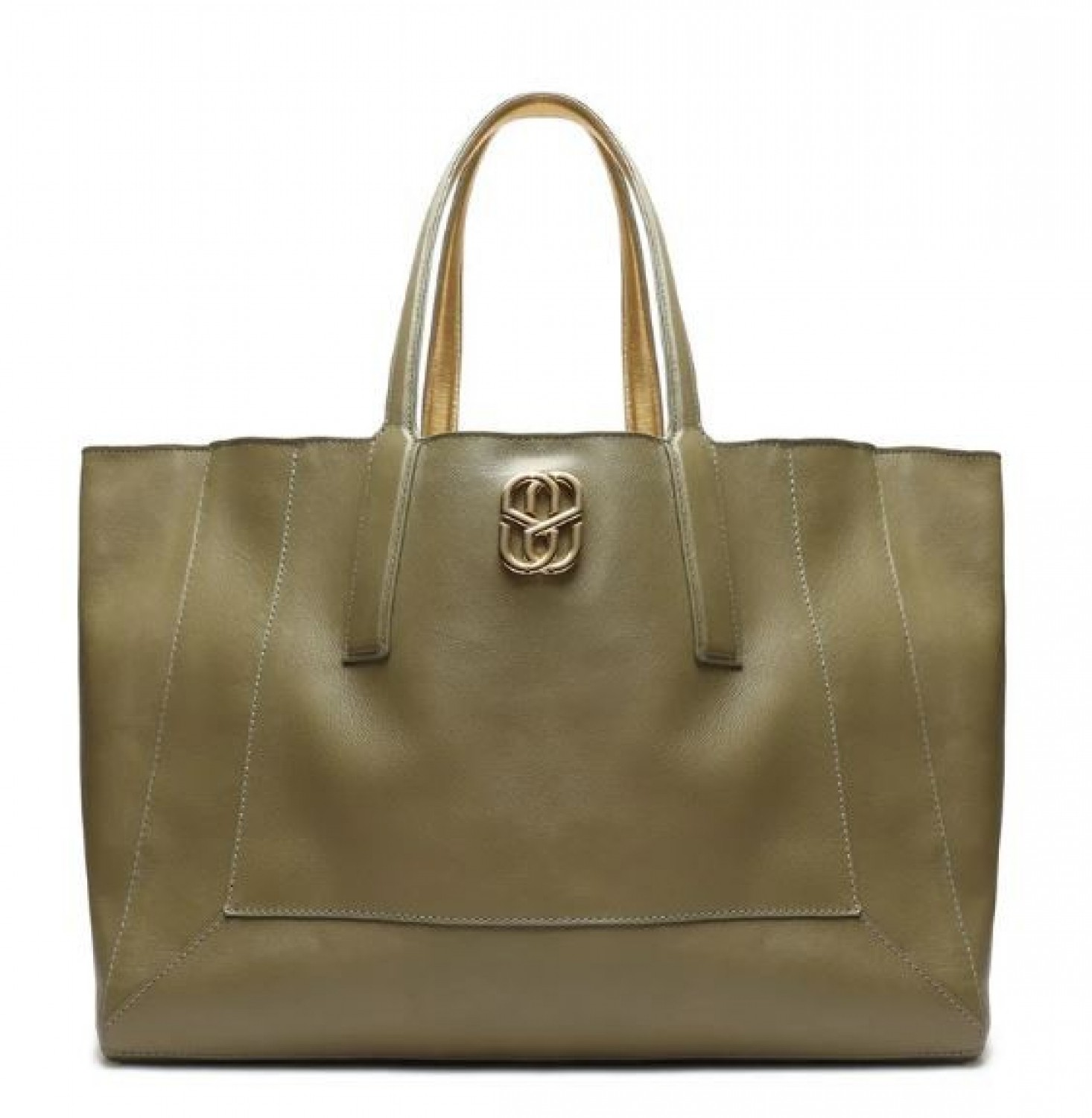 SHOPPING BAG SCHUTZ DOUBLE FACE VERDE