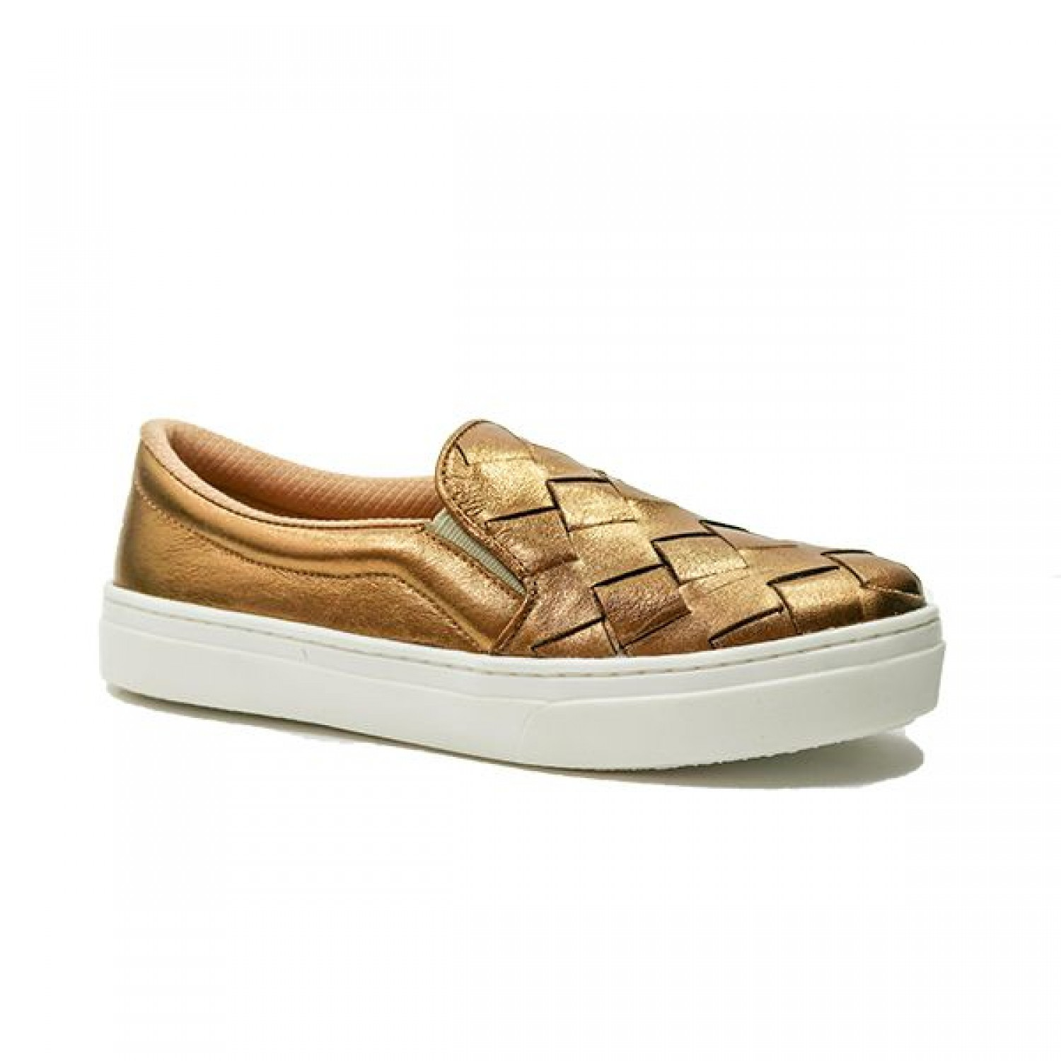 TÊNIS SLIP ON BRONZE