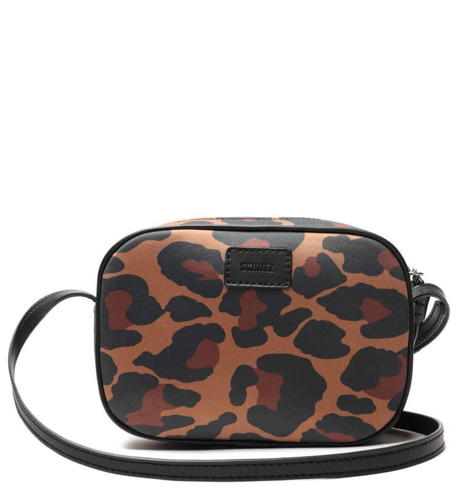 BOLSA SCHUTZ CROSSBODY KATE NEOPRENE ANIMAL PRINT ONÇA