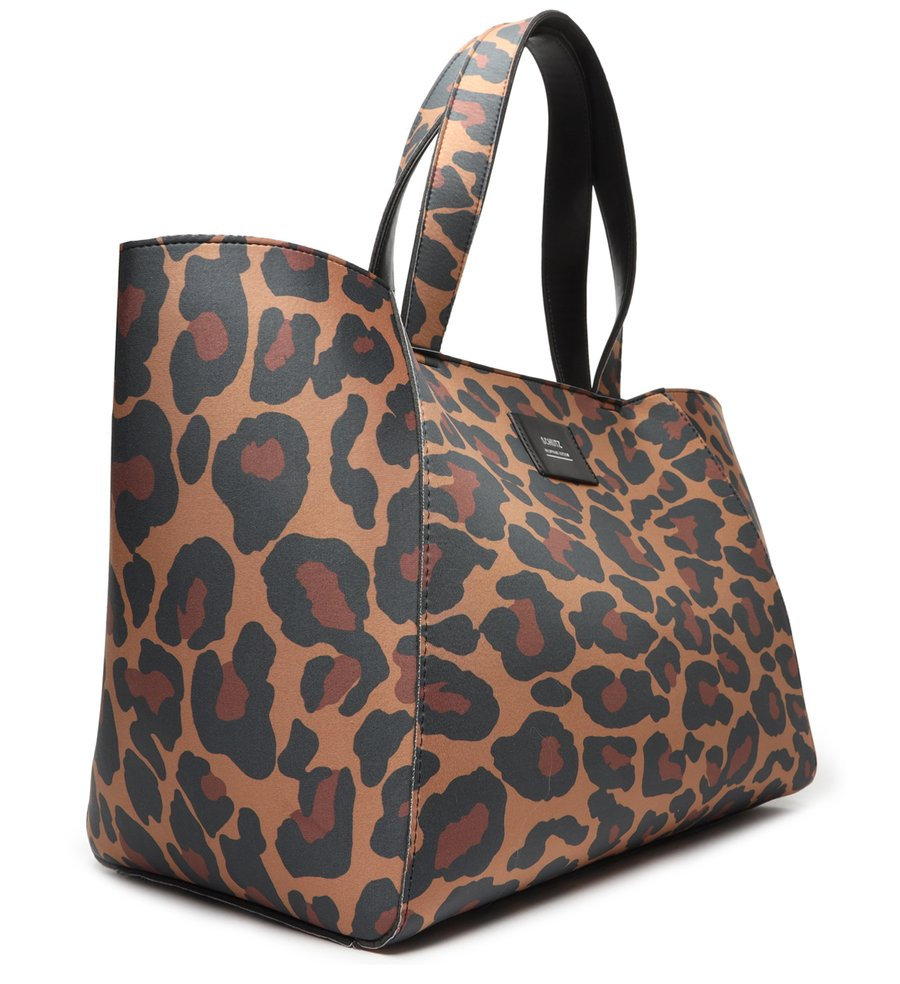 BOLSA SCHUTZ SHOPPING BAG NEOPRENE ANIMAL PRINT ONÇA